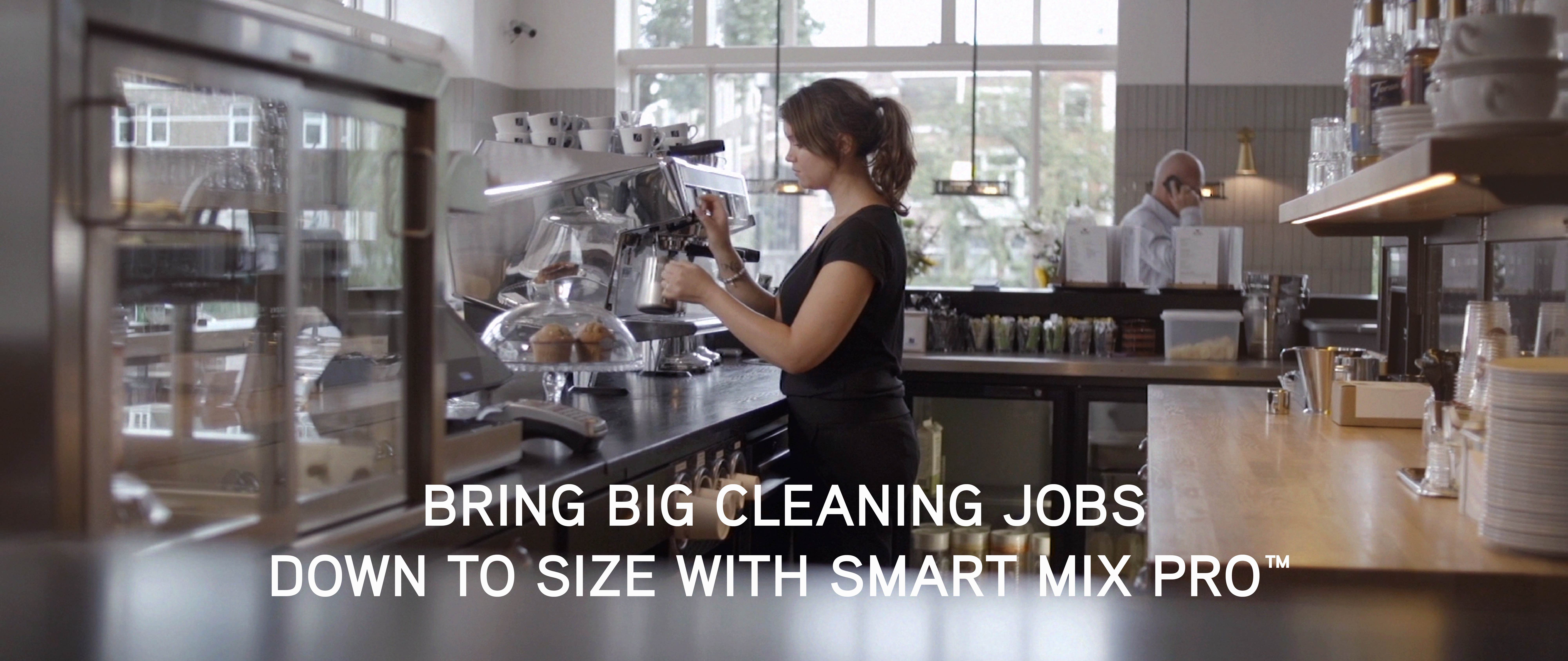 Bring big cleaning jobs down to size with Smart Mix Pro